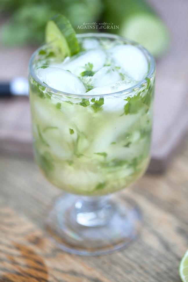 Paleo Cilantro Cucumber Margarita | Danielle Walker's Against all Grain