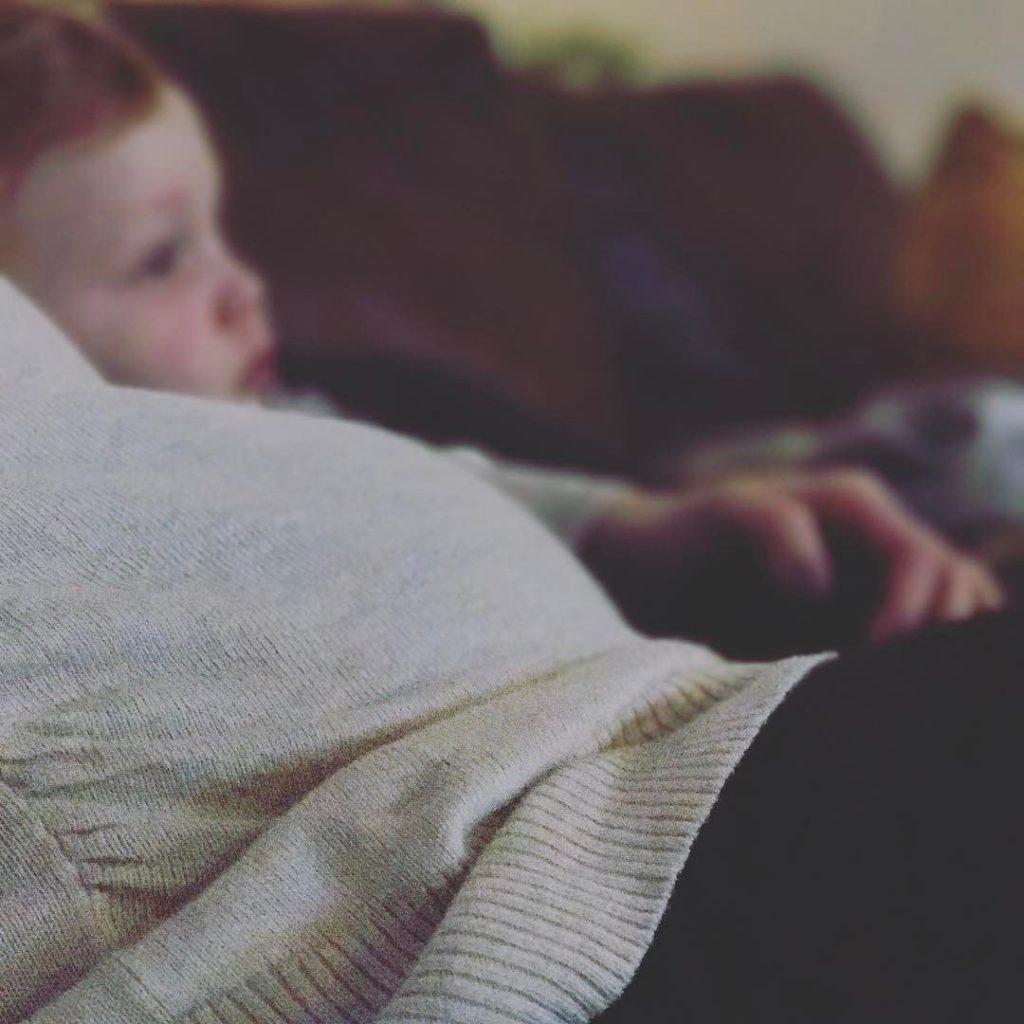 Easton snuggles fever