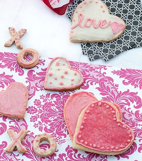 cut out vday cookies