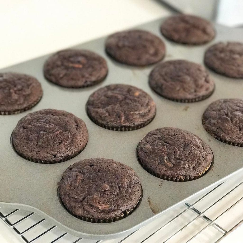 nut free chocolate zucchini muffins