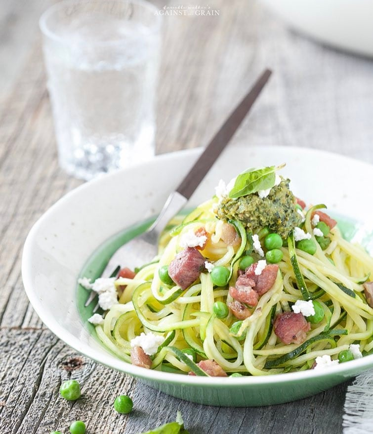 Cooking Light pesto zoodle
