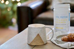 Dairy-Free Egg Nog Latte with Collagen Protein