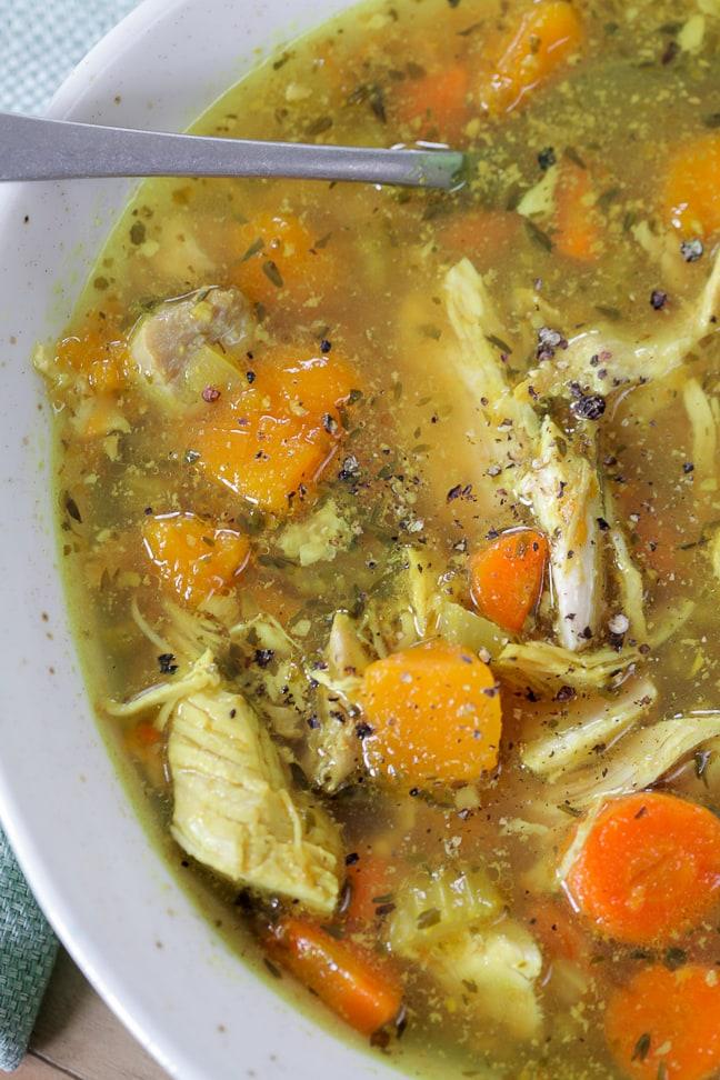 Whole30 Instant Pot Chicken Soup Recipe Against All Grain
