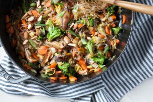 Vegetarian Sweet Chili Noodle Stir-Fry