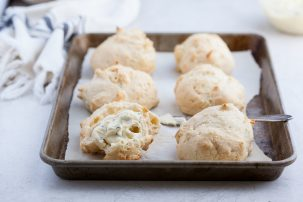 Cheddar Biscuits with Chive Whipped Ghee