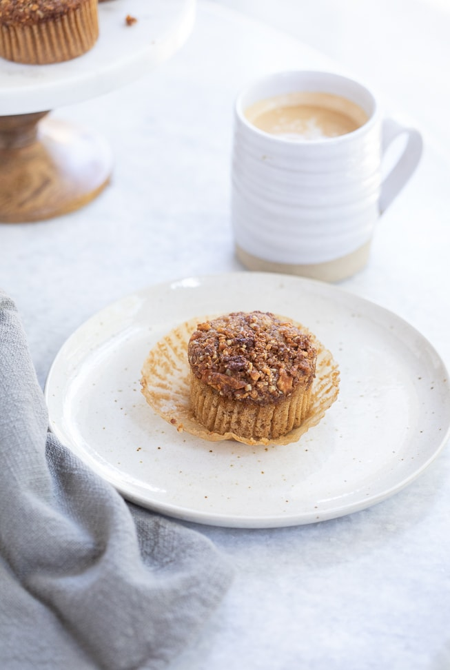 Gluten Free Spiced Apple Crumble Muffins