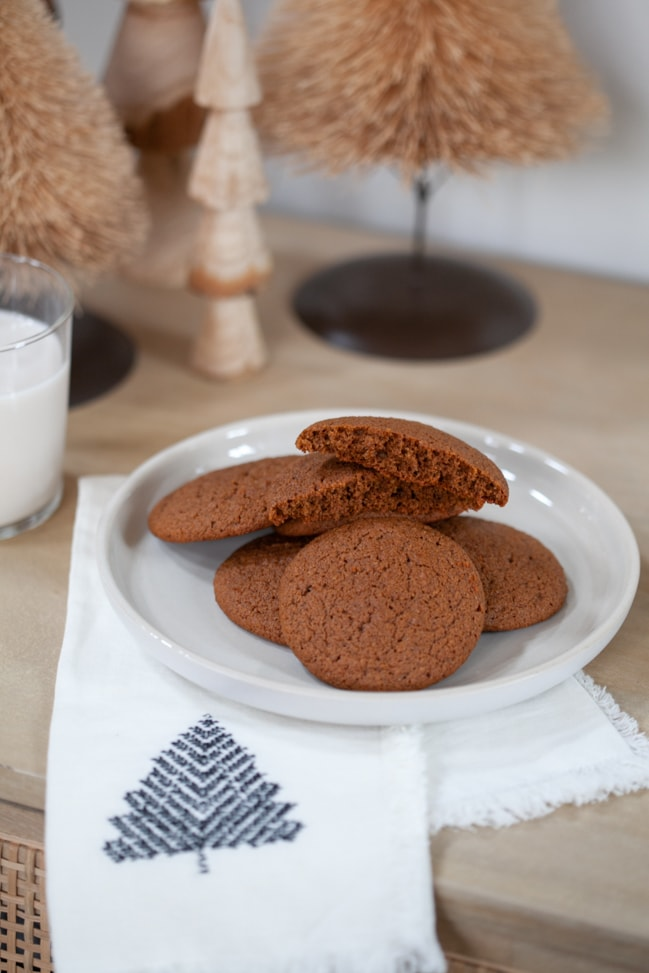 Gluten Free Chewy Ginger Molasses Cookies