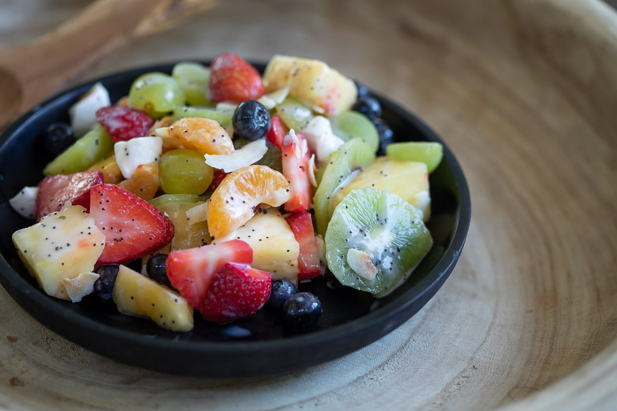 Dairy-Free Fruit Salad with Yogurt Dressing